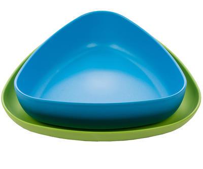 Set 2x talířek EKOALA eKkoli BIO plast 2019, modrá/zelená - 1