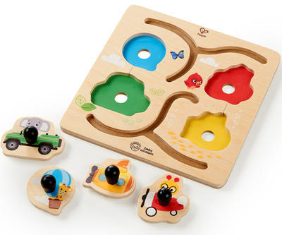 Dřevěná hračka BABY EINSTEIN Puzzle Paths to Adventure HAPE 12m+ 2020 - 1