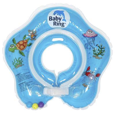 Kojenecký nafukovací kruh BABY RING 2018, modrý-střední - 1