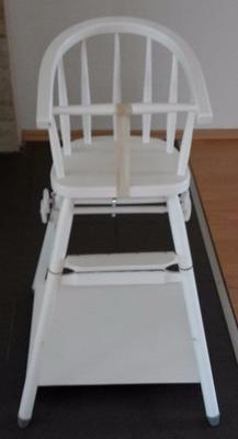 Dřevěná jídelní židlička BERNKOP Sandra bílá 2021 - 1