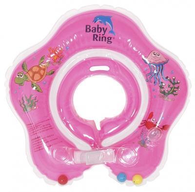 Kojenecký nafukovací kruh BABY RING 2018, růžový-střední - 1