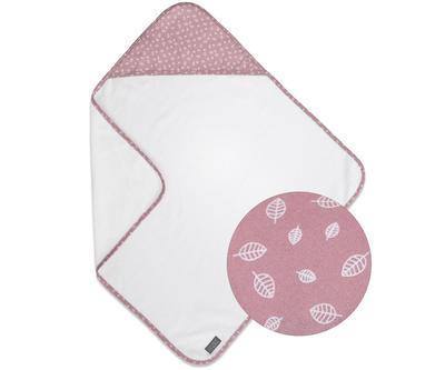 Osuška s kapucí VINTER & BLOOM Nordic Leaf 2020, soft pink