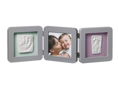 BABY ART Double Print Frame Grey 2018