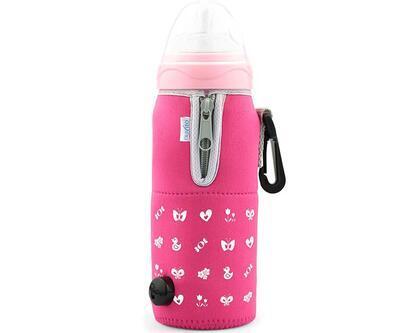 Cestovní ohřívač NUVITA se zipem na kojenecké láhve 2020, pink