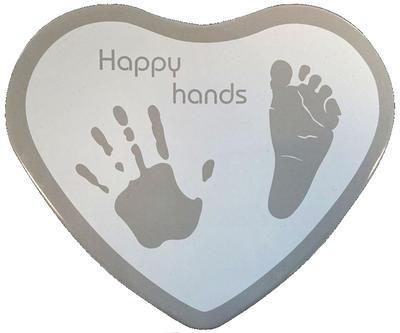 Sada pro otisky HAPPY HANDS 2D Heart Silver/White 2016 - 1