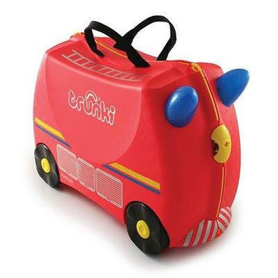 Kufřík + odrážedlo  TRUNKI 2020, hasičský vůz Frankie - 1