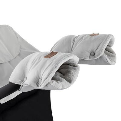 PETITE&MARS rukavice Jasie na kočárek 2021, steel grey