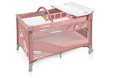 Cestovní postýlka BABY DESIGN Dream 2020, 08 - růžová - 1