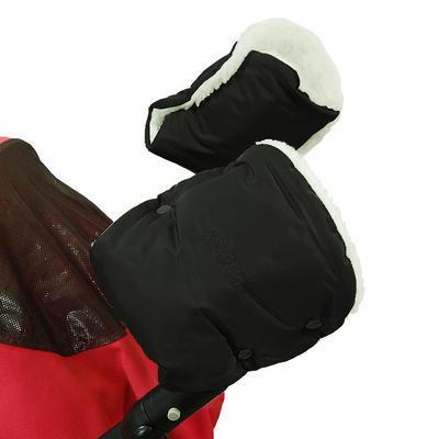 Rukávník EMITEX ke kočárku/rukavice golfové hole s kožichem 2020