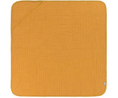 Ručník s kapucí LÄSSIG Muslin Hooded Towel 2021, mustard - 1