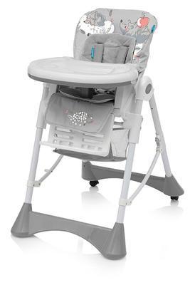 Jídelní židlička BABY DESIGN Pepe 2020, 07 šedá - 1
