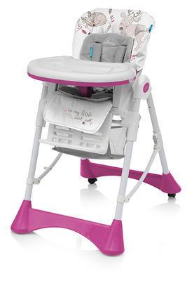 Jídelní židlička BABY DESIGN Pepe 2020, 08 růžová - 1