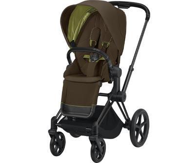 Kočárek CYBEX Priam Matt Black Seat Pack 2021 včetně korby - 2