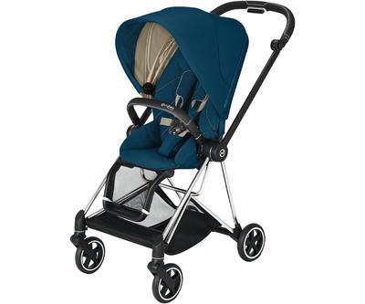 Kočárek CYBEX Mios Chrome Black Seat Pack 2021 včetně korby, mountain blue - 2