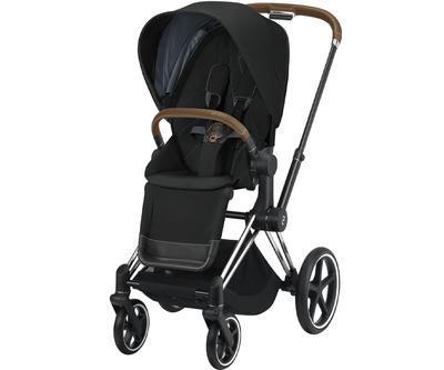 Kočárek CYBEX Set Priam Chrome Brown Seat Pack 2021 včetně Aton 5, deep black - 2