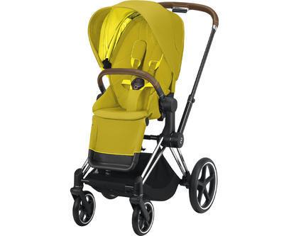 Kočárek CYBEX Set Priam Chrome Brown Seat Pack 2021 včetně Cloud Z i-Size PLUS a base Z, mustard yellow - 2