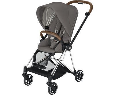 Kočárek CYBEX Mios Chrome Brown Seat Pack 2021 včetně korby, soho grey - 2