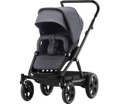 Kočárek BRITAX GO Big2 Premium Line 2019 včetně hluboké korby + autosedačka Baby-Safe i-Size ZDARMA, graphite melange/black - 2