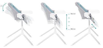 Jídelní židlička BABYMOOV Slick 2021 - 2