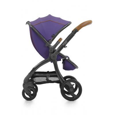 Kočárek BABYSTYLE Egg® včetně korby a tašky 2017 + DÁRKY, gothic purple/gun metal rám - 2