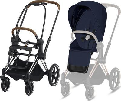 Kočárek CYBEX Set Priam Chrome Brown Seat Pack PLUS 2021  včetně Aton 5, midnight blue - 2