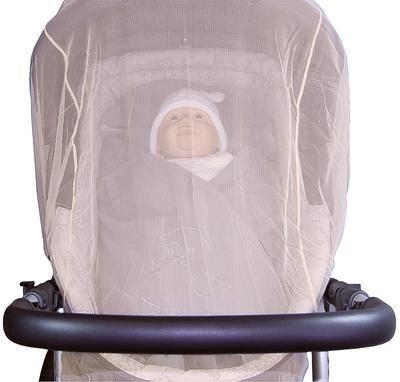 Síť proti hmyzu EMITEX na kočárek DUO 2020, bílá - 2