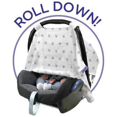Clona DOOKY Car Seat Canopy 2017, silver stars - 2