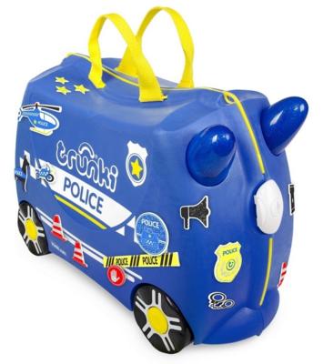 Kufřík + odrážedlo  TRUNKI 2020, policejní auto Percy - 2