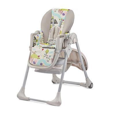 Jídelní židlička KINDERKRAFT Tastee 2021, pink leaf - 2