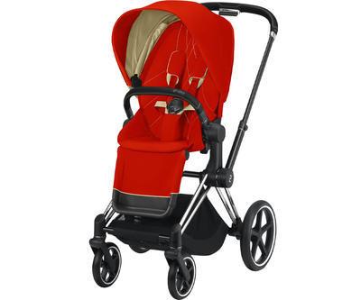 Kočárek CYBEX Set Priam Chrome Black Seat Pack 2021 včetně Aton 5, autumn gold - 2