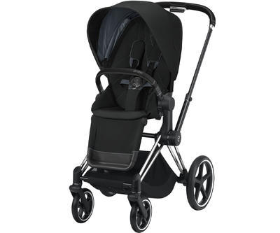 Kočárek CYBEX Set Priam Chrome Black Seat Pack 2021 včetně Aton 5, deep black - 2