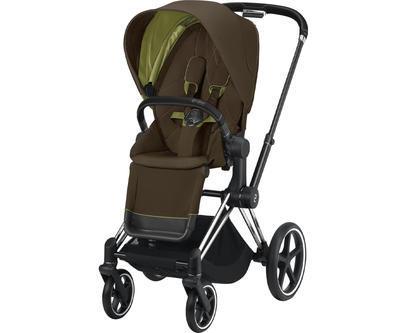 Kočárek CYBEX Set Priam Chrome Black Seat Pack 2021 včetně Aton 5, khaki green - 2