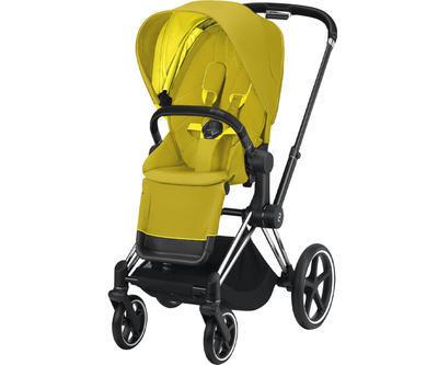 Kočárek CYBEX Set Priam Chrome Black Seat Pack 2021 včetně Aton 5, mustard yellow - 2