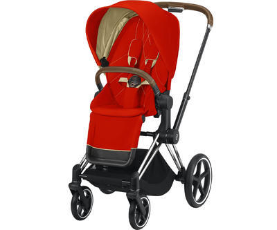 Kočárek CYBEX Set Priam Chrome Brown Seat Pack 2021 včetně Aton 5 - 2