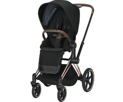 Kočárek CYBEX Set Priam Rosegold Seat Pack 2021 včetně Aton 5, deep black - 2