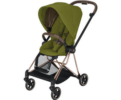 Kočárek CYBEX Mios Rosegold Seat Pack 2021 včetně korby, khaki green - 2