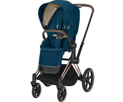 Kočárek CYBEX Set Priam Rosegold Seat Pack 2021 včetně Cloud Z i-Size a base Z, mountain blue - 2