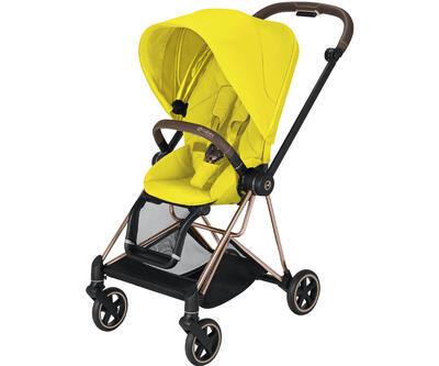 Kočárek CYBEX Mios Rosegold Seat Pack 2021 včetně korby, mustard yellow - 2