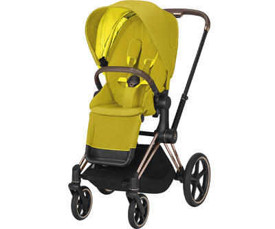 Kočárek CYBEX Set Priam Rosegold Seat Pack 2021 včetně Aton 5 a báze, mustard yellow - 2