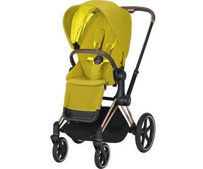 Kočárek CYBEX Set Priam Rosegold Seat Pack 2021 včetně Cloud Z i-Size PLUS a base Z, mustard yellow - 2
