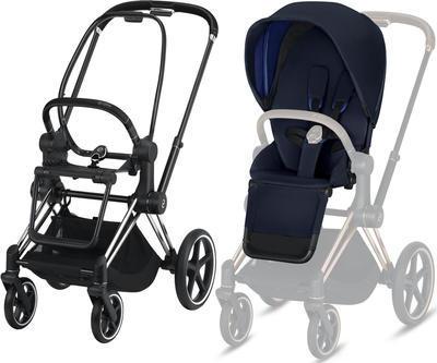 Kočárek CYBEX Set Priam Chrome Black Seat Pack 2019 včetně Cloud Z i-Size, indigo blue - 2