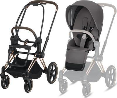 Kočárek CYBEX Set Priam Rosegold Seat Pack 2019 včetně Cloud Z i-Size, manhattan grey - 2