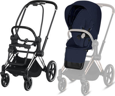 Kočárek CYBEX Set Priam Chrome Black Seat Pack PLUS 2020  včetně Aton 5 - 2
