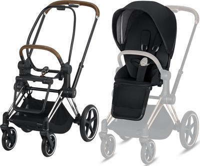 Kočárek CYBEX Set Priam Chrome Brown Seat Pack 2019 včetně Cloud Z i-Size - 2