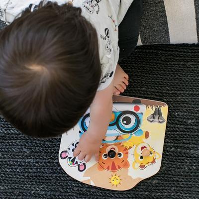 Dřevěná hračka BABY EINSTEIN Puzzle Friendy Safari Faces HAPE 12m+ 2020 - 2