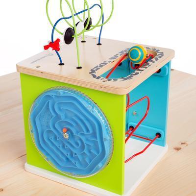 Dřevěná aktivní hračka BABY EINSTEIN Kostka Innovation Station HAPE 12m+ 2020 - 2
