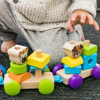 Dřevěná hračka BABY EINSTEIN Discovery Train HAPE 18m+ 2020 - 2