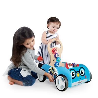 Dřevěná aktivní hračka BABY EINSTEIN Vlečka Discovery Buggy HAPE 12m+ 2020 - 2