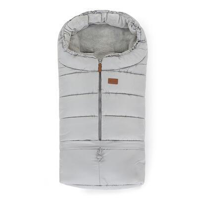 PETITE&MARS Zimní set fusak Jibot 3v1 + rukavice na kočárek Jasie 2021, steel grey - 2