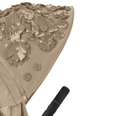Kočárek CYBEX Set Priam Lux Seat FashionSimply Flowers Collection 2021 včetně autosedačky, mid beige/podvozek priam chrome black - 2